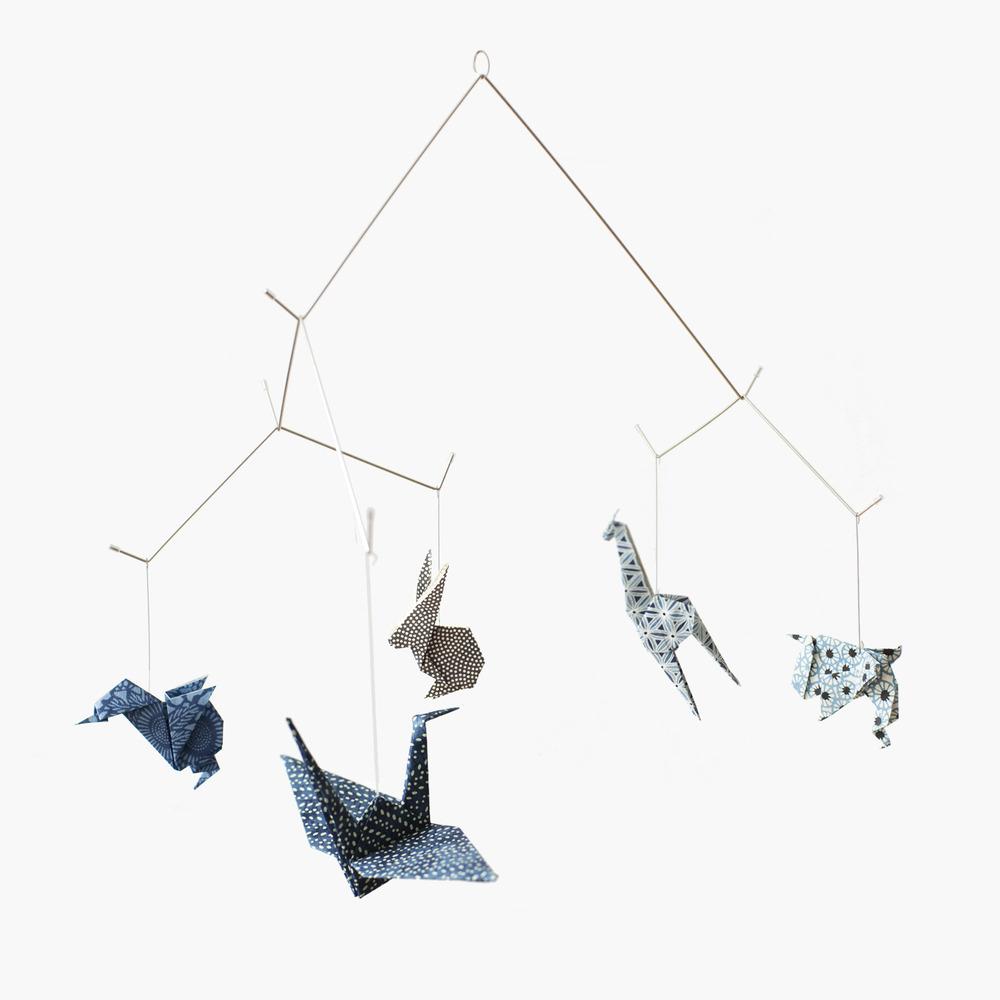 kidivist origami mobile. Black Bedroom Furniture Sets. Home Design Ideas
