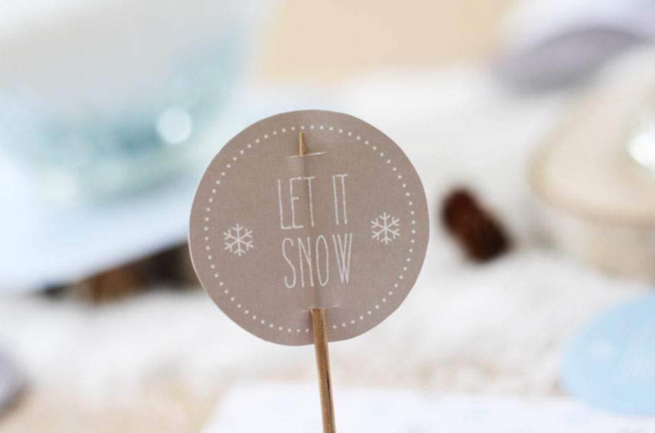 Brigitte Weihnachtsbloggerei Diy Tischdeko Let It Snow Sanvie De