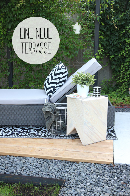 eine neue terrasse das ergebnis der sommerpause. Black Bedroom Furniture Sets. Home Design Ideas