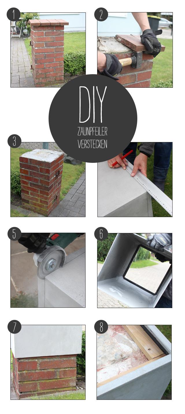 DIY-Zaunpfeiler